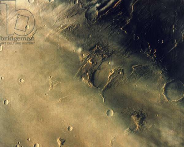 Surface of the planet Mars, 1976