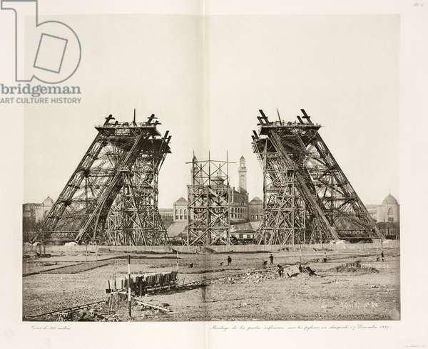 Construction de la Tour Eiffel - Building Construction & Repair Construction of the Eiffel Tower, Paris, 7 December 1887