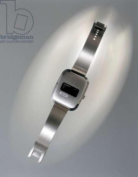 Watches, Wrist, Digital Avia quartz digital watch, c 1972
