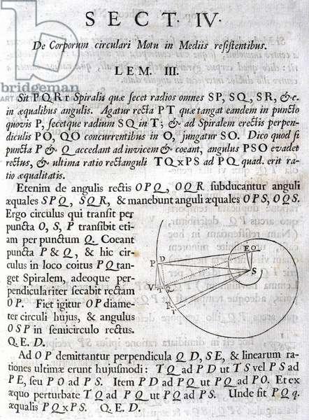 Newton's 'Principia' ÔLet PQR be a spiral that cuts all the radii