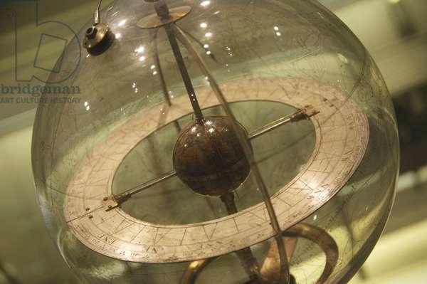 Mechanised glass celestial globe, 1742-1750