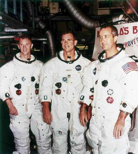 Manned Space Flight, USA, Apollo 9 Apollo 9 astronauts, 1968