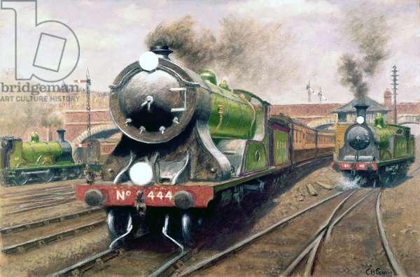 Locomotive no 444, London & South Western Railway Express