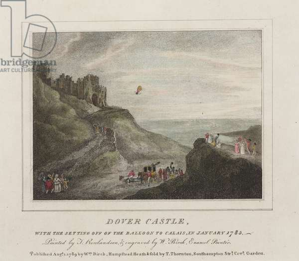 The first Channel crossing by balloon, 7 January 1785