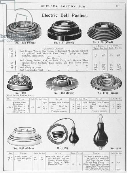 Electric Bell Pushes', c 1902