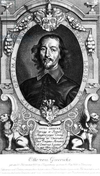 Otto von Guericke, German physicist and inventor, 1649