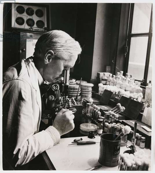 Alexander Fleming, Scottish bacteriologist, 18 December 1943