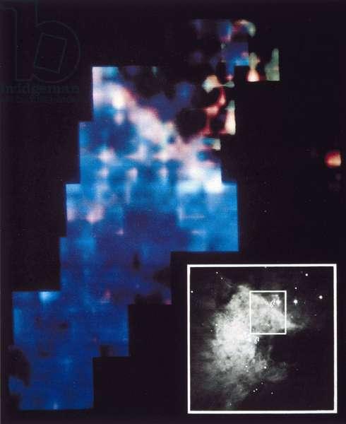 Satellites, Scientific, International Ultraviolet map of part of the Orion nebula, 1978