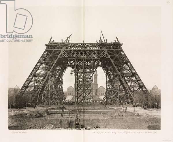 Construction de la Tour Eiffel - Building Construction & Repair Assembly of the horizontal girders, Eiffel Tower, Paris, 26 March 1888