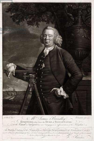 James Brindley, British civil engineer and canal builder, 1770
