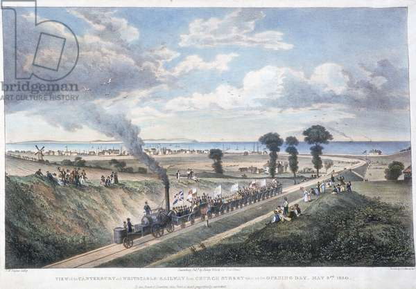 The opening of the Canterbury & Whitstable Railway, Kent, 3 mai 1830