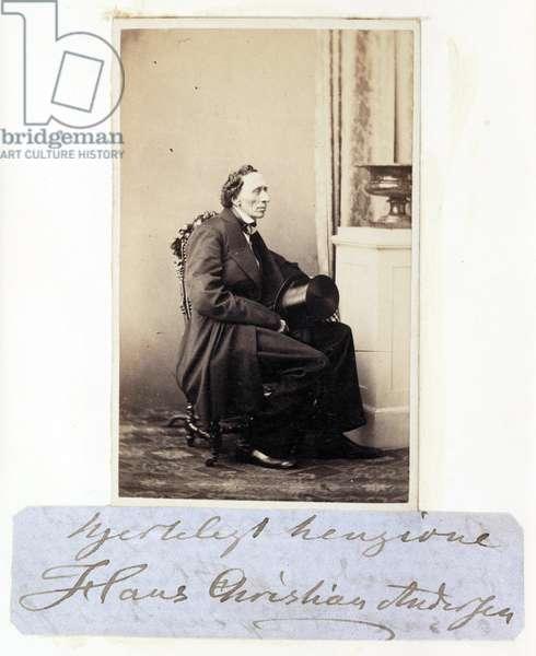 Hans Christian Andersen, c 1865