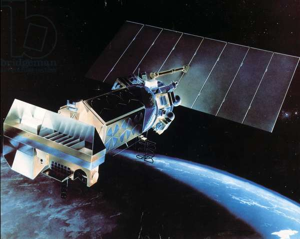 Satellites, Weather, USA ArtistÕs impression of the TIROS N meteorological satellite, 1978