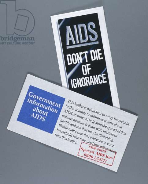 Diseases, AIDS & HIV Government AIDS awareness leaflets, 1987