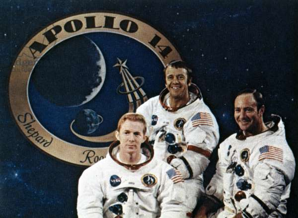 Manned Space Flight, USA, Apollo 14 Apollo 14 astronauts and mission emblem, 1971