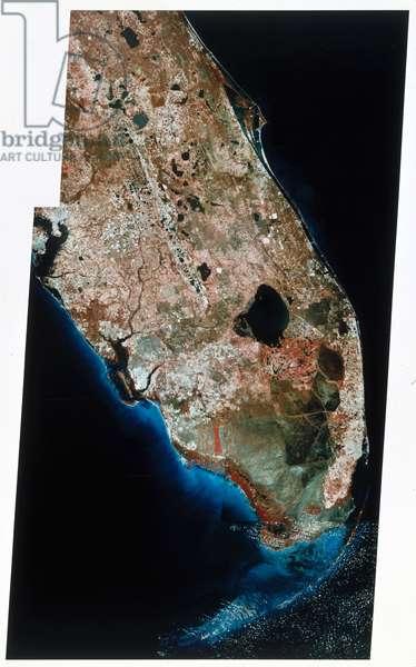 Satellites, Earth Observation, USA Landsat image of South Florida, 1980s