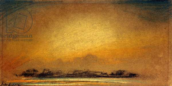 Afterglow with crepuscular rays, 13 September 1885