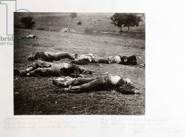 Union dead where General Reynolds fell, Gettysburg, Pennsylvania, July 1863