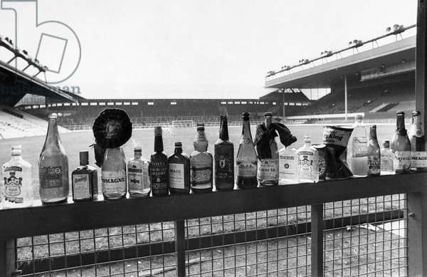 Bottles after a Scotland football match, October 1986