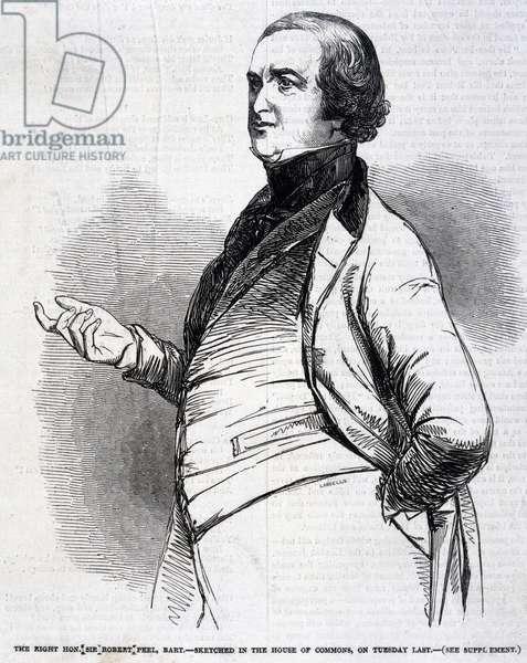 Sir Robert Peel, English politician, 1846