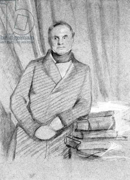 Charles Babbage, British mathematician and computing pioneer, 1845