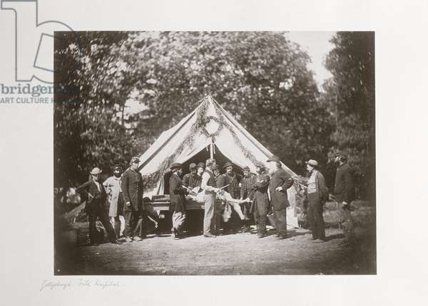 Gettysburg field hospital, Pennsylvania, USA, July, 1863
