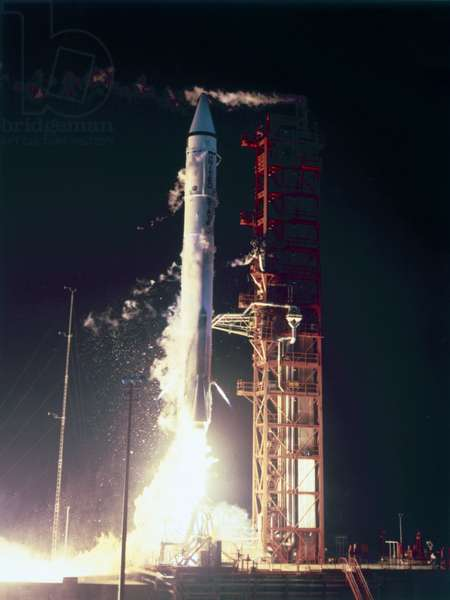 Launch Vehicles, USA Launch of Atlas-Centaur rocket, 1967