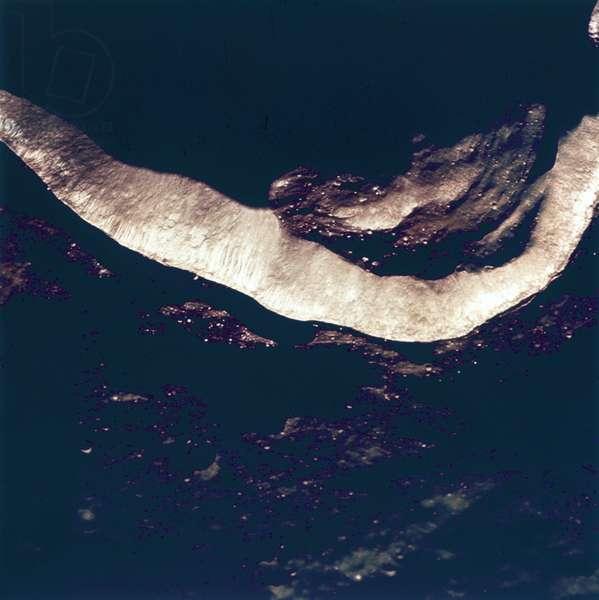 Manned Space Flight, USA, Apollo 10 Lunar crater Godin, 1969