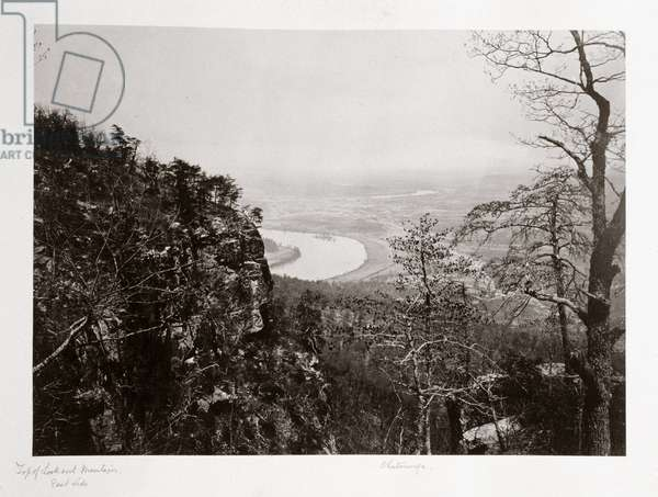 Chattanooga Valley from Lookout Mountain, Tennessee, USA, c 1866