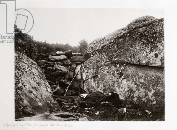 Home of a rebel sharpshooter, Gettysburg, Pennsylvania, July, 1863