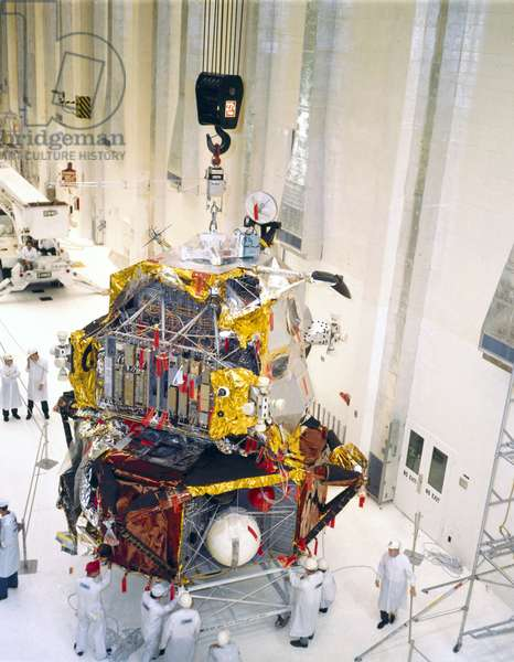 Manned Space Flight, USA, Apollo 10 Assembly of Apollo 10 Lunar Module, 1969