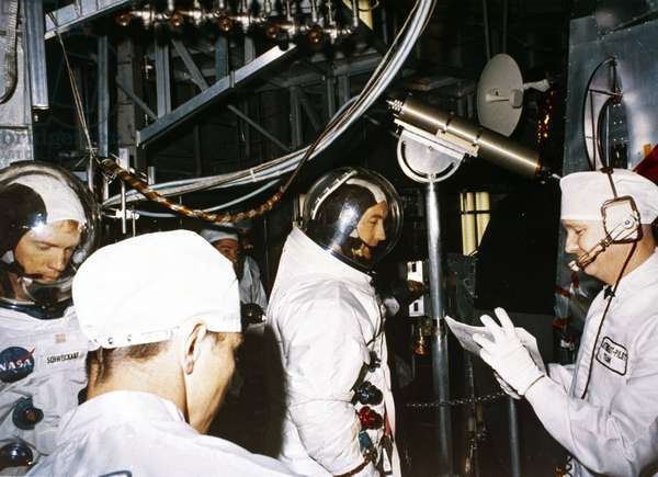 Manned Space Flight, USA, Apollo 9 Apollo 9 astronauts Russell Schweickart and David Scott, 1969