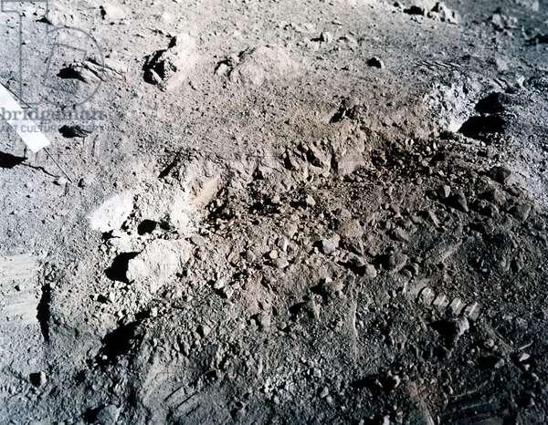 Manned Space Flight, USA, Apollo 17 Orange soil on the moon, 1972