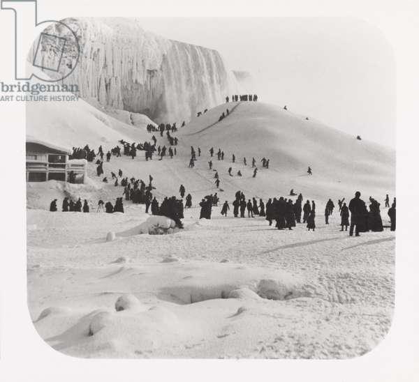 People enjoying the snow, 19th Century