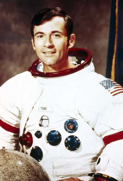 Manned Space Flight, USA, Apollo 16 Apollo 16 astronaut John Young in spacesuit, 1971