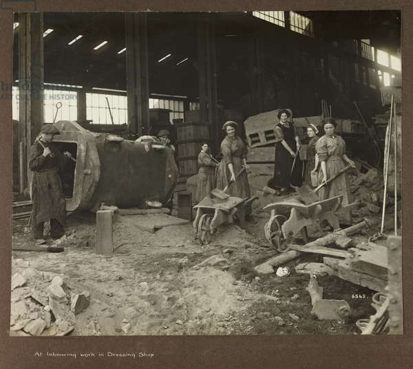 At labouring work in Dressing Shop', 1915-1918