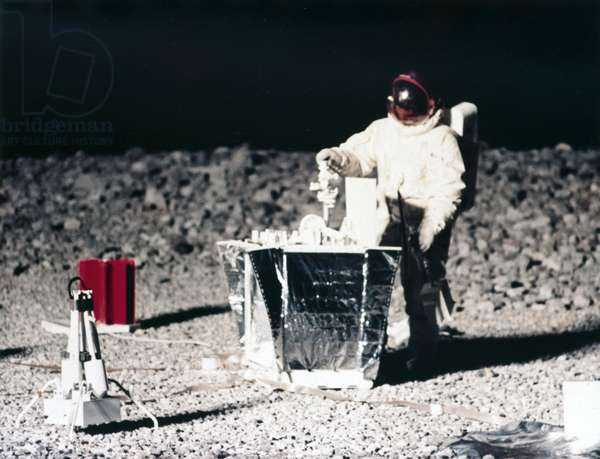Manned Space Flight, USA, Apollo, General, Training Practising lunar surface activities, 1968
