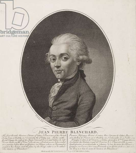 Jean-Pierre Francois Blanchard, French aeronaut, 1785