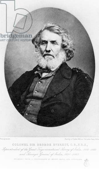 Sir George Everest, military engineer, 1854-1866