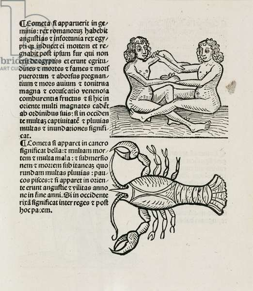 Gemini, the twins and Cancer the crab, 1489