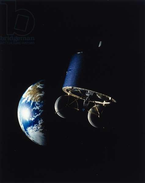 Satellites, Military, USA Drawing of DSCS 2, military satellite, 1970s
