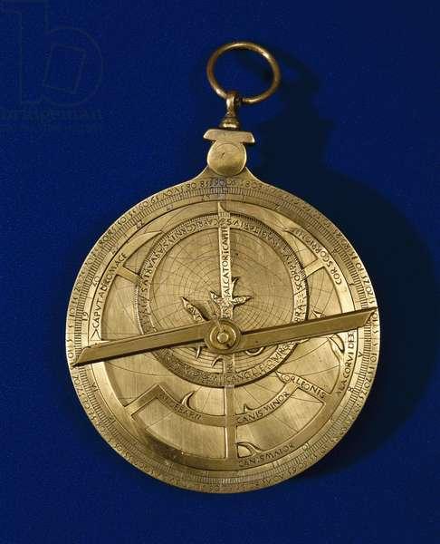 Brass planispheric astrolabe with Gothic script, 1495-1505