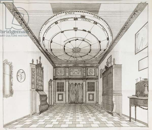 Entrance to the world's first planetarium, late 18th century