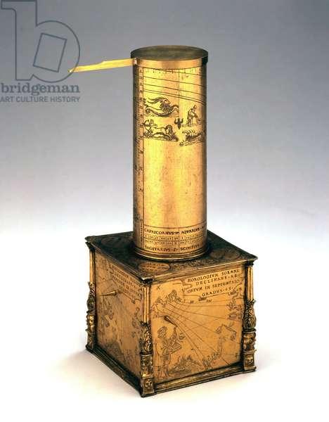 Sundials, Altitude Column sundial, German, c 1550