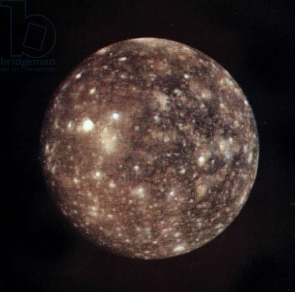Callisto, one of the moons of Jupiter, 1979