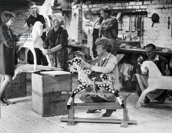 Rocking-horse workshop, Liverpool, October 1969