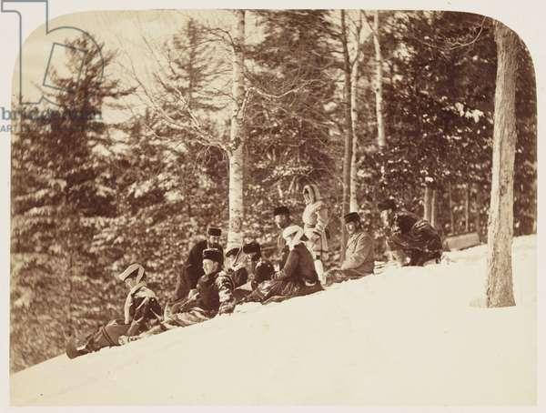 Tobogganing', 1860