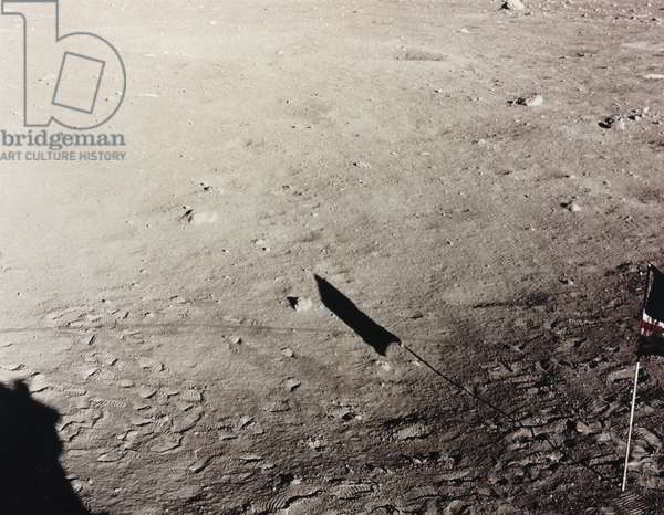 Manned Space Flight, USA, Apollo, General American flag on the Moon, 1972