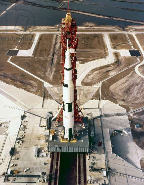 Manned Space Flight, USA, Apollo 10 The Apollo 10 Saturn V rocket, May 1969