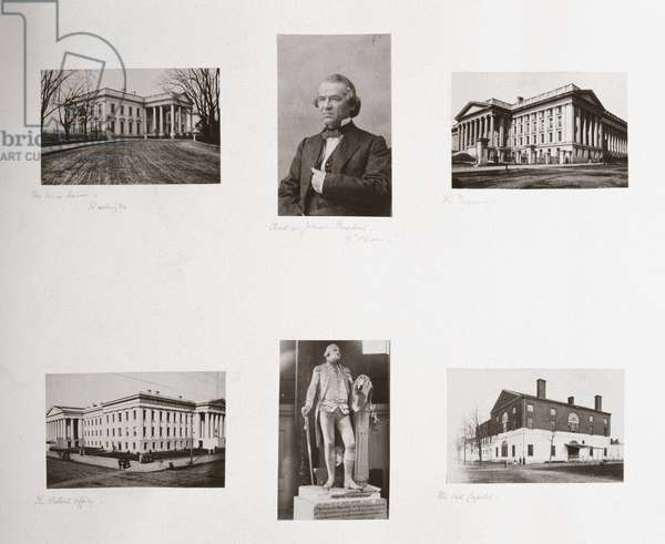 Albumen prints relating to Washington DC, USA, c 1863